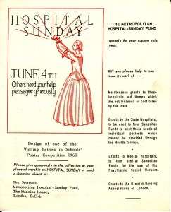 Hospital Sunday Appeal flyer from 1960