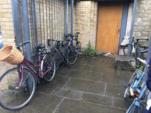 Volunteers bikes