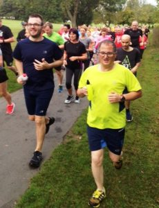 Matt, Luke and Emmanuel of Bexley Mencap taking part in the local Parkrun