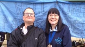 Bexley Mencap member Matt meets Mayor of Bexley at Parkrun